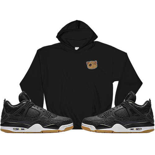 Have Faith (Black Laser 4's) Embroidered Hoodie - HaveFaithClothingCo