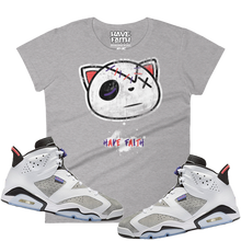 Grunge Have Faith (Flint Grey 6's) Women's T-Shirt - HaveFaithClothingCo