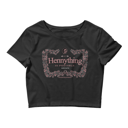 Hennything Is Possible (Elemental Rose Foams) Women's Crop Top - HaveFaithClothingCo