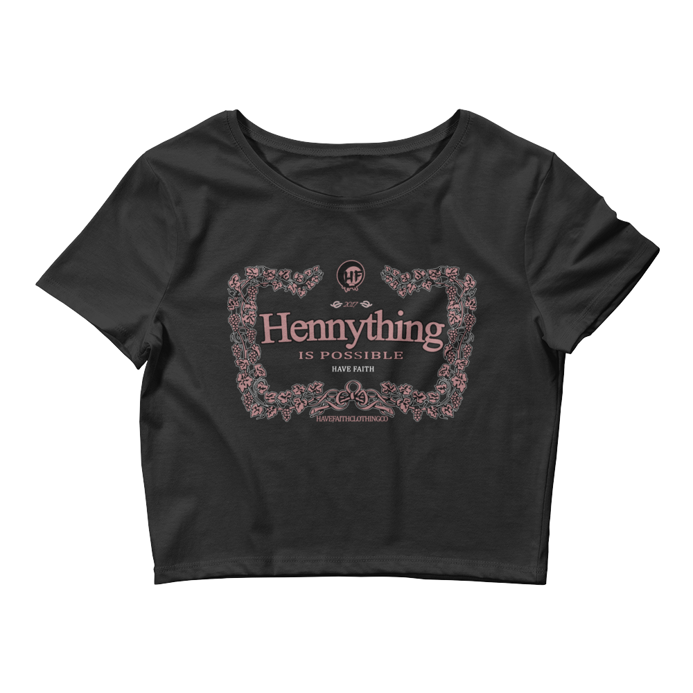 Hennything Is Possible (Elemental Rose Foams) Women's Crop Top - Shop Men, Women, Kids clothing and accessories To Match Your Kicks online