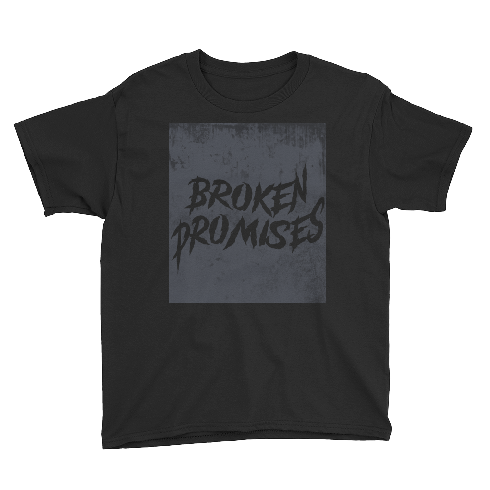 Broken Promises (Cap And Gown 11s) Youth Short Sleeve T-Shirt - HaveFaithClothingCo