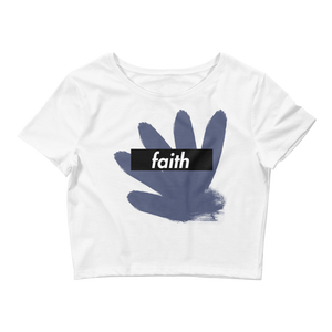 Faith Box Logo (OG Blue Moon 1s) Women's Crop Top - HaveFaithClothingCo