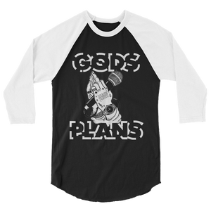 Gods Plan (Cool Grey 11s) 3/4 sleeve raglan shirt - HaveFaithClothingCo