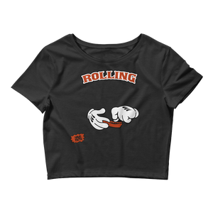Rolling (Shattered Backboard 1s) Women's Crop Top - HaveFaithClothingCo