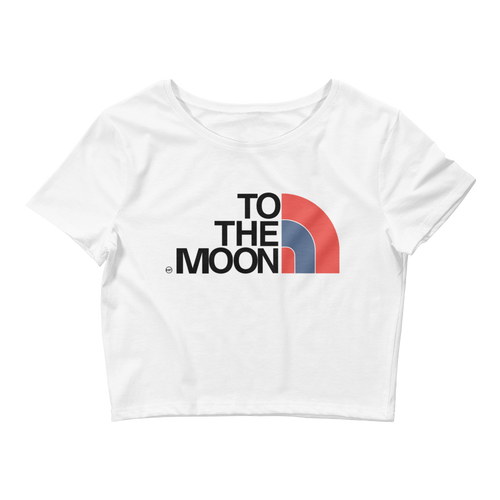 To The Moon (True Blue 3s) Women's Crop Tee - HaveFaithClothingCo