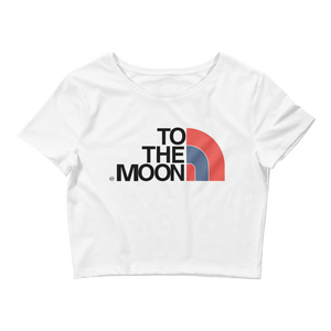 To The Moon (True Blue 3s) Women's Crop Tee - Shop Men, Women, Kids clothing and accessories To Match Your Kicks online