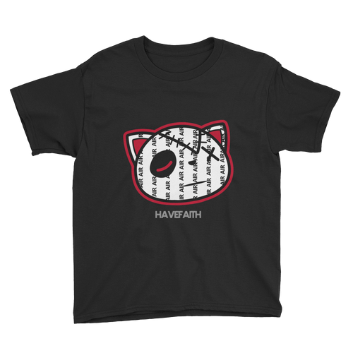 Have Faith Air (Pinstripe Uptempo) Youth Short Sleeve T-Shirt - HaveFaithClothingCo