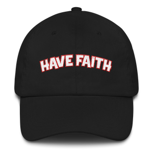 Have Faith (Habanero Red Foamposites) Dad hat - HaveFaithClothingCo
