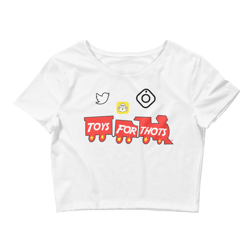 Toys For Thots (Win Like 96 11s) Women's Crop Tee - HaveFaithClothingCo