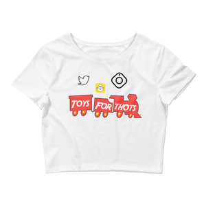 Toys For Thots (Win Like 96 11s) Women's Crop Tee - Shop Men, Women, Kids clothing and accessories To Match Your Kicks online