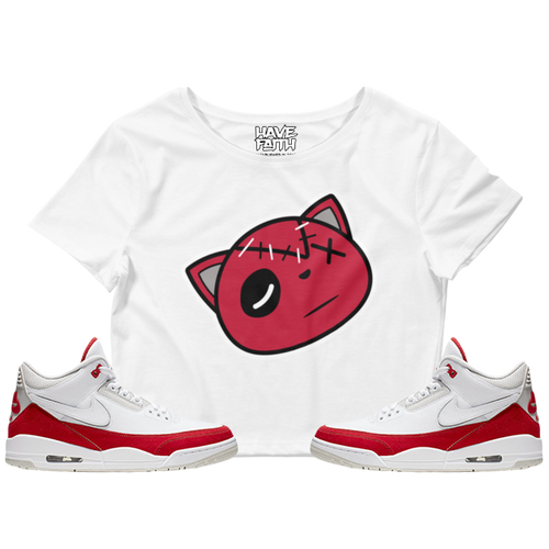 Have Faith (Tinker University Red 3's) Crop Top