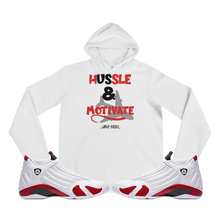 Hussle & Motivate (Candy Cane 14's) Hoodie - HaveFaithClothingCo