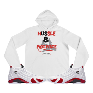 Hussle & Motivate (Candy Cane 14's) Hoodie