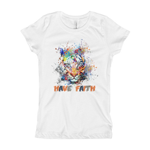 Splattered Tiger (Photo Blue Air Max Deluxe) Girl's T-Shirt - HaveFaithClothingCo