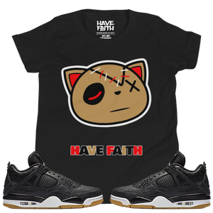 Have Faith (Black Laser 4's) Youth Short Sleeve T-Shirt - HaveFaithClothingCo