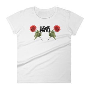 Rose HF Women's short sleeve t-shirt - HaveFaithClothingCo