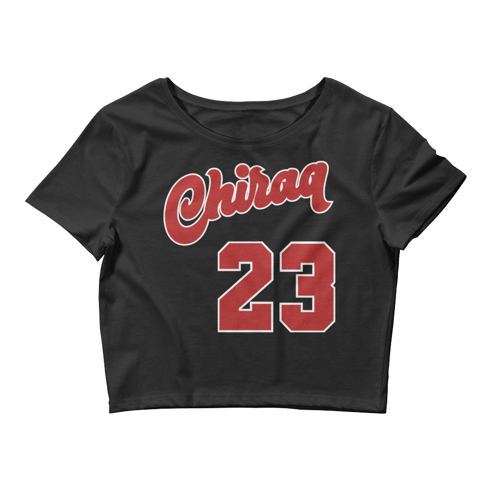 Chiraq 23 (Varsity Red Uptempo) Women's Crop Top - HaveFaithClothingCo