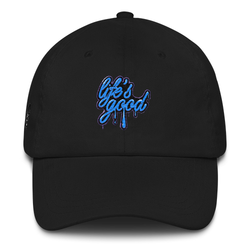 Lifes Good (Fuchsia Blast 14s) Dad hat - HaveFaithClothingCo