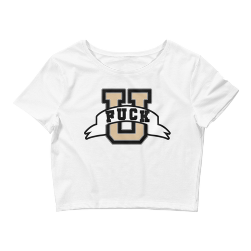 Fuck U (Gold Toe 1s) Women's Crop Tee - HaveFaithClothingCo