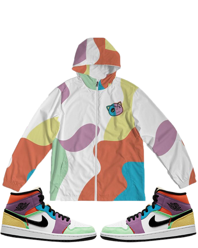 Have Faith (Multi Color Retro 1's) Windbreaker - HaveFaithClothingCo