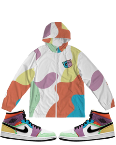 Have Faith (Multi Color Retro 1's) Windbreaker - Shop Men, Women, Kids clothing and accessories To Match Your Kicks online
