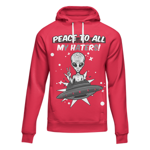 Peace To All My Haters (Red Cement Retro 3's) Hoodie
