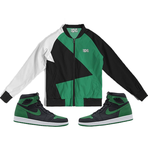 Have Faith (Pine Green Retro 1's) Bomber Jacket - Shop Men, Women, Kids clothing and accessories To Match Your Kicks online