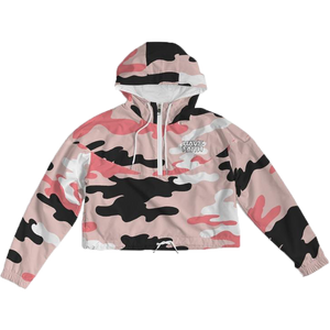 Pink Camo Women's Cropped Windbreaker - Shop Men, Women, Kids clothing and accessories To Match Your Kicks online