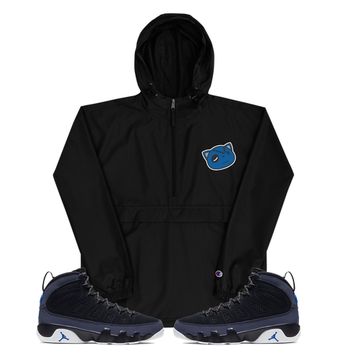 Have Faith (Retro 9 Racer Blue) Embroidered Champion Packable Jacket - HaveFaithClothingCo