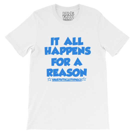 For A Reason (Pure White 3's) T-Shirt - HaveFaithClothingCo