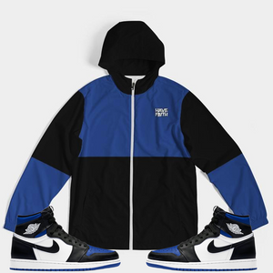 Have Faith (Royal Toe Retro 1's) Windbreaker - Shop Men, Women, Kids clothing and accessories To Match Your Kicks online