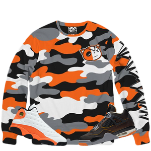 HF Camo (Starfish Retro 13's/4's) Classic French Terry Crewneck Pullover - HaveFaithClothingCo