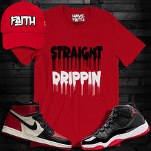 Straight Drippin (Bred) T-Shirt - Shop Men, Women, Kids clothing and accessories To Match Your Kicks online