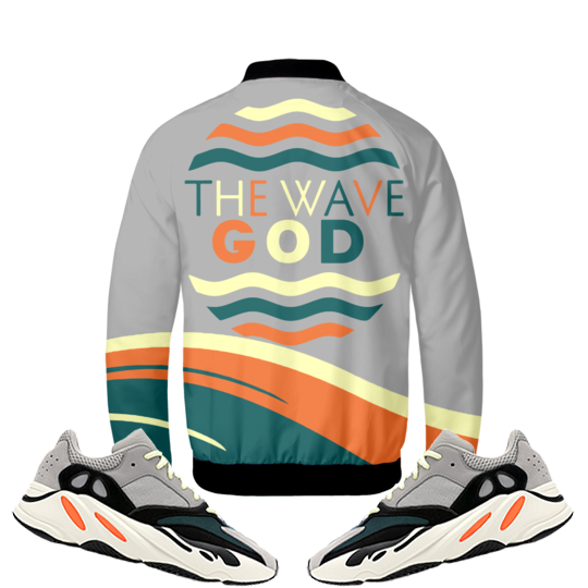 The Wave God (Adidas Yeezy Boost 700 Wave Runner) Bomber Jacket