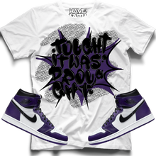 Thought It Was A Drought (Court Purple Retro 1's) T-Shirt