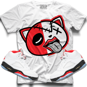Tounge Out (Fire Red Retro 5s) T-Shirt