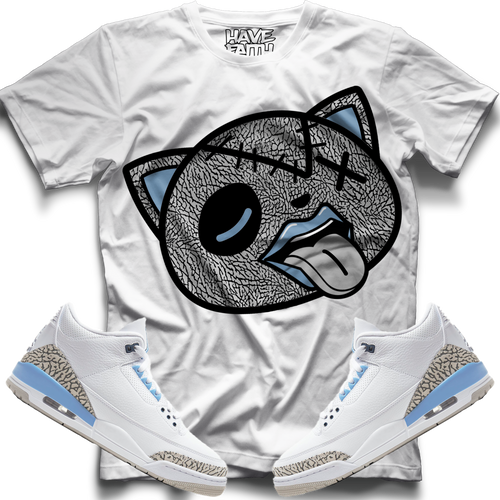 Tounge Out (UNC Retro 3's) T-Shirt - HaveFaithClothingCo