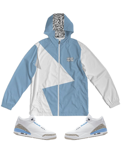 Have Faith (UNC Retro 3's) Windbreaker - Shop Men, Women, Kids clothing and accessories To Match Your Kicks online