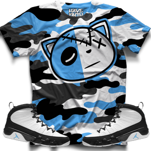 HF CAMO (UNC Retro 9's) T-Shirt - Shop Men, Women, Kids clothing and accessories To Match Your Kicks online