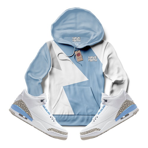 Have Faith (UNC Retro 3's) Hoodie - HaveFaithClothingCo