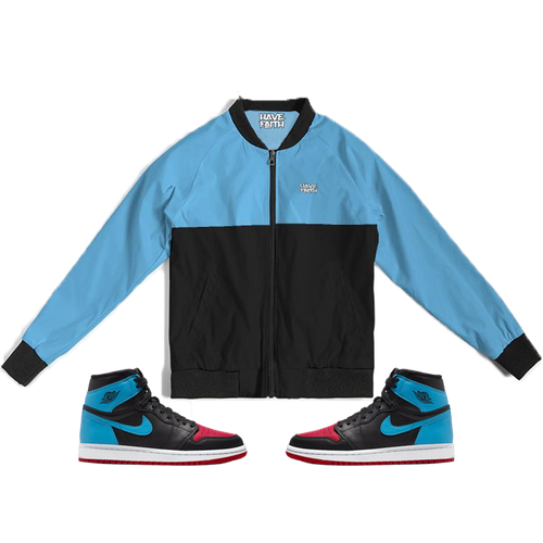 Have Faith (UNC To CHI Retro 1's) Bomber Jacket - Shop Men, Women, Kids clothing and accessories To Match Your Kicks online