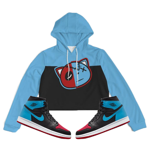 Have Faith (UNC To CHI Retro 1's) Women's Cropped Hoodie - Shop Men, Women, Kids clothing and accessories To Match Your Kicks online