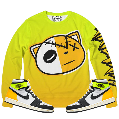 HF Volt (Volt Gold Retro 1's) Classic French Terry Crewneck Pullover - HaveFaithClothingCo