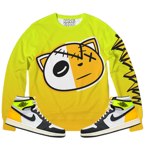 HF Volt (Volt Gold Retro 1's) Classic French Terry Crewneck Pullover - Shop Men, Women, Kids clothing and accessories To Match Your Kicks online