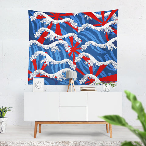 Tsunami Wave Tapestry