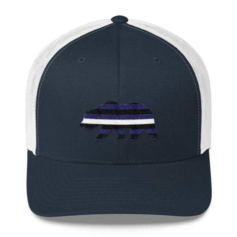 Midnight Bear Trucker Cap