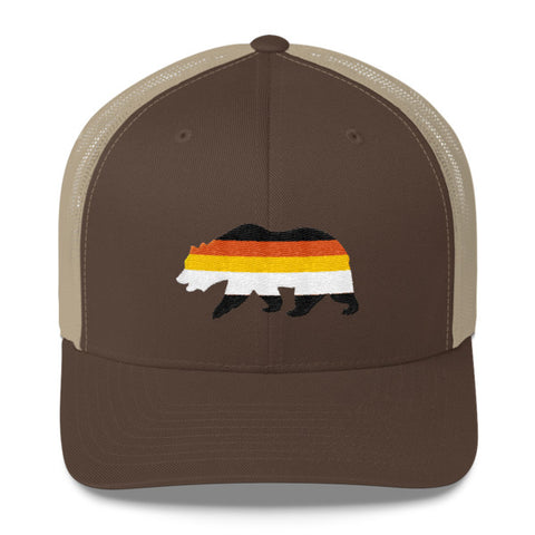 Sunset Bear Trucker Cap