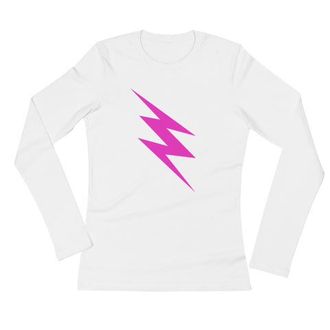 Pink Bolt Long-Sleeved Women's Tee