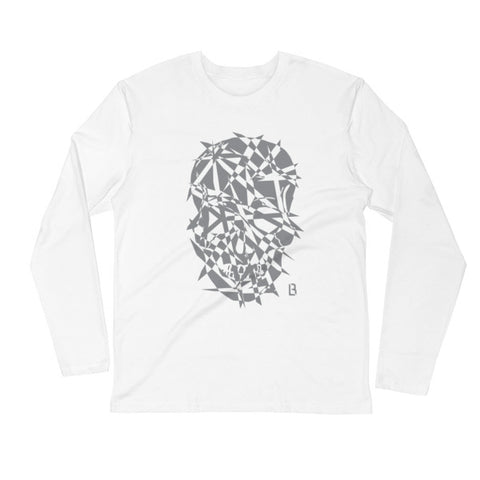 Barrio Logan Skull Long-Sleeved Fitted Crew