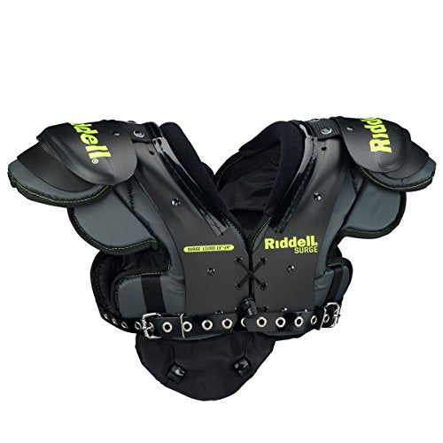 Riddell Sports Surge Youth Football Shoulder Pad Black/Volt, X-Large